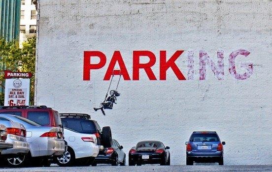 Banksy Swinging Girl
