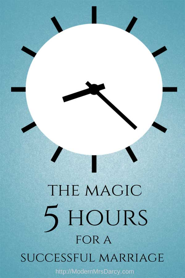 the magic 5 hours for a successful marriage