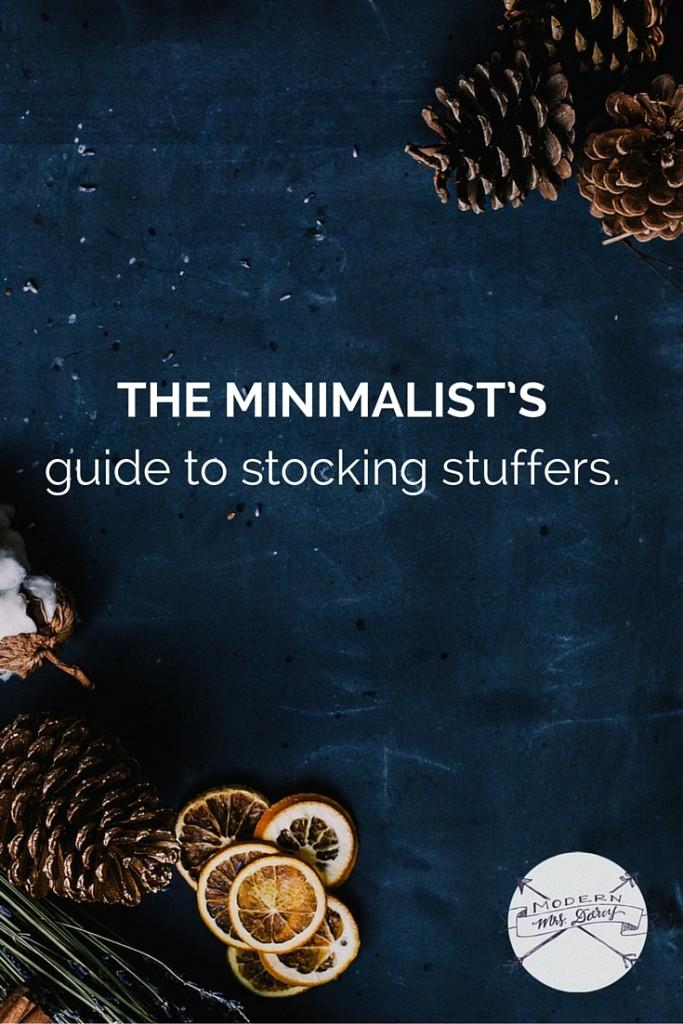 The minimalist's guide to stocking stuffers | Modern Mrs Darcy