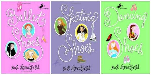 shoe books collage
