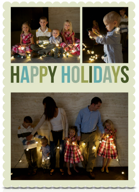 Christmas Card Paper Coterie Family Photo