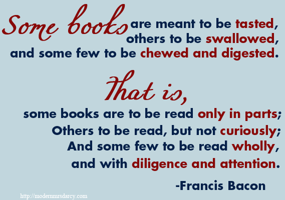 Francis Bacon on reading