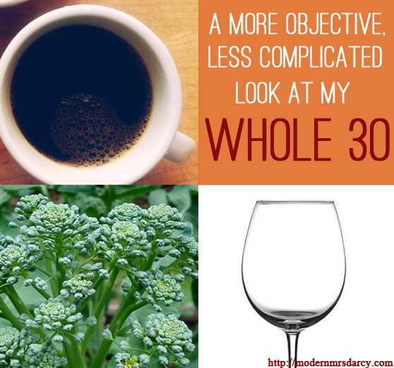 A More Objective, Less Complicated Look at My Whole 30.