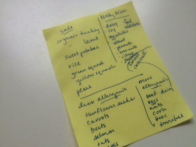 elimination diet list