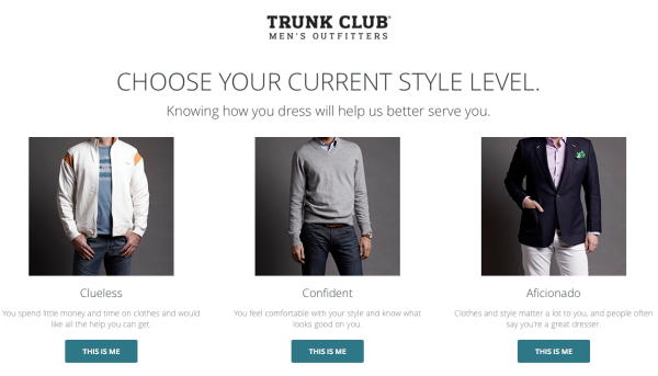 Trunk Club shopping service for men