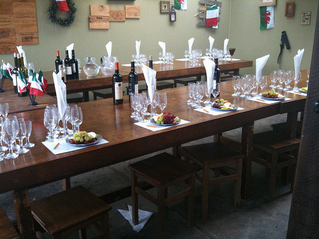 Tasting flights for wine and books