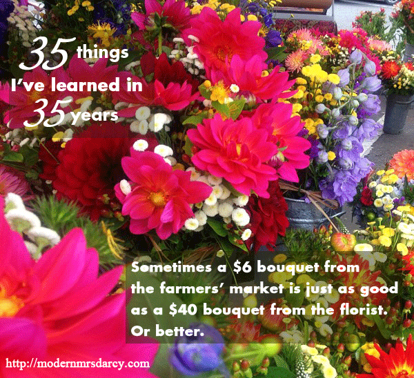 35 Things I've Learned in 35 Years | Modern Mrs Darcy