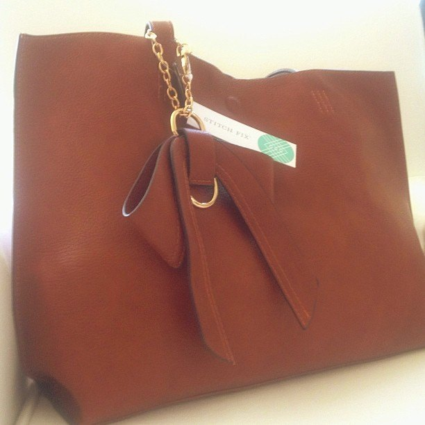 Leather tote from 41 Hawthorne, via Stitch Fix | Modern Mrs Darcy