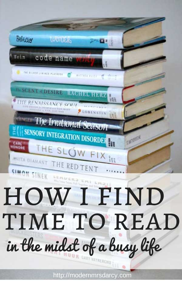 How I find time to read in the midst of a busy life