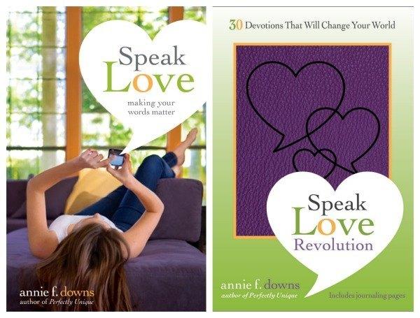 Speak Love and Speak Love Revolution by Annie Downs giveaway