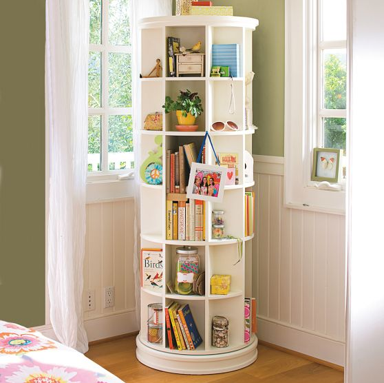 Pottery Barn kids revolving bookcase