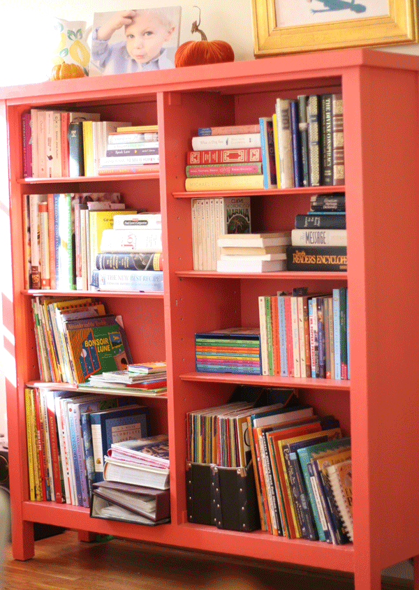 bookshelf-tall & What\u0027s on YOUR bookshelf? (a link-up!)