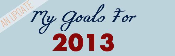 2013 Goal Update (October)