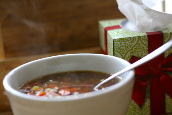 Easy homemade turkey (or chicken) stock and my family's favorite soup recipe