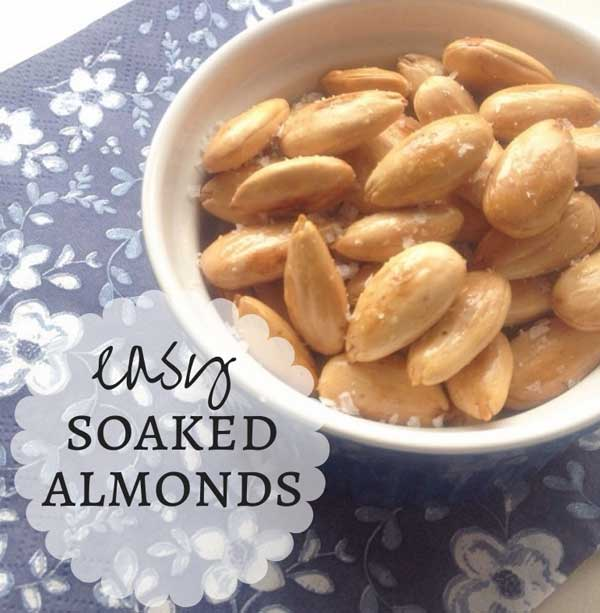 how to make easy soaked almonds