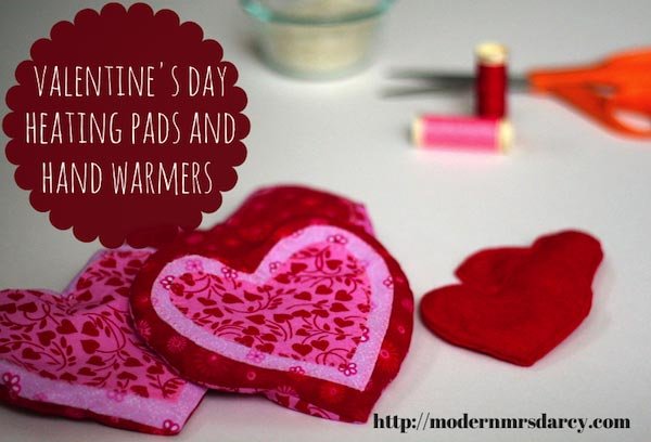 Valentine's Day heating pads and hand warmers -- a quick and easy DIY.
