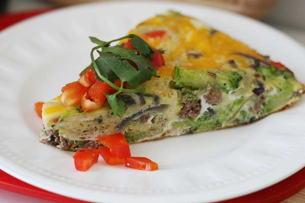 My kids love this easy 20-minute frittata, which I love because it's packed with protein and veggies! You've got to have this method in your repertoire.