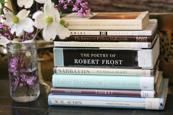 A few of my favorite poetry collections (and a promising bedtime ritual).
