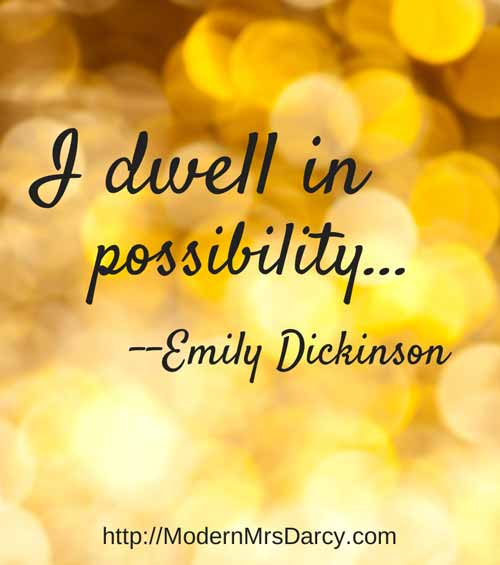 I dwell in possibility. — Emily Dickinson. A great way to sum up how #infp types think! #mbti