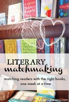 Literary matchmaking: matching readers with the right books, one week at a time