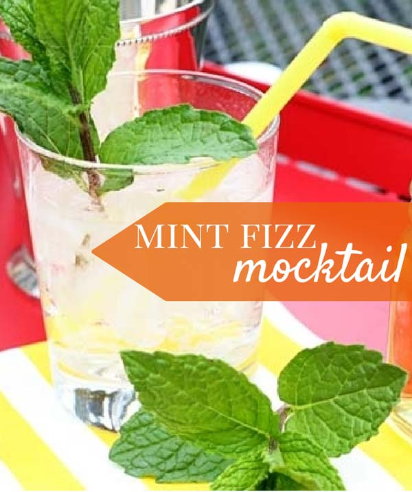 Classic mint julep and a mint fizz mocktail