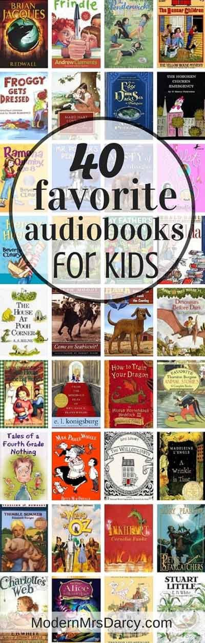 40 Favorite Audiobooks For Kids