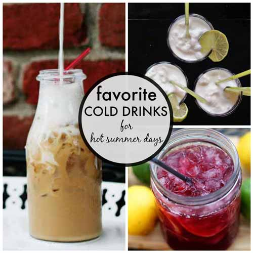 Cold drinks for hot summer days | Modern Mrs Darcy