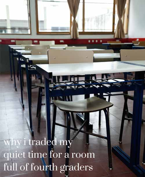 "Why I traded my company's ""quiet time"" for a room full of fourth graders {How She Does It} 