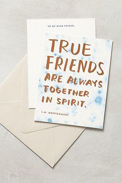 True friends are always together in spirit