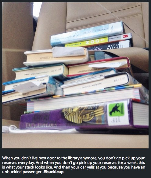 buckle up library books