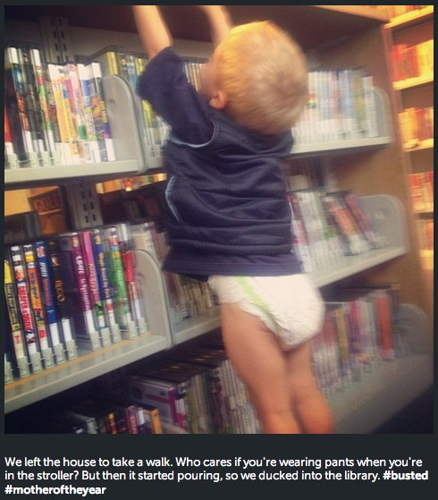 library stacks diaper