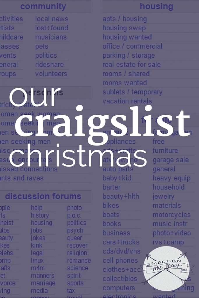 Our Craigslist Christmas | Modern Mrs Darcy