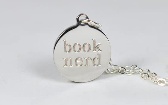 book nerd necklace