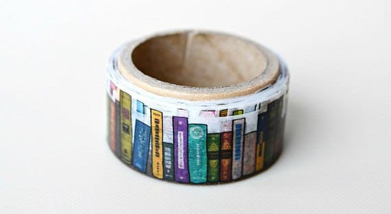 stocking stuffers for book lovers - book washi tape