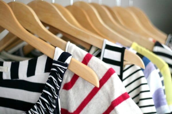 closet full of stripes