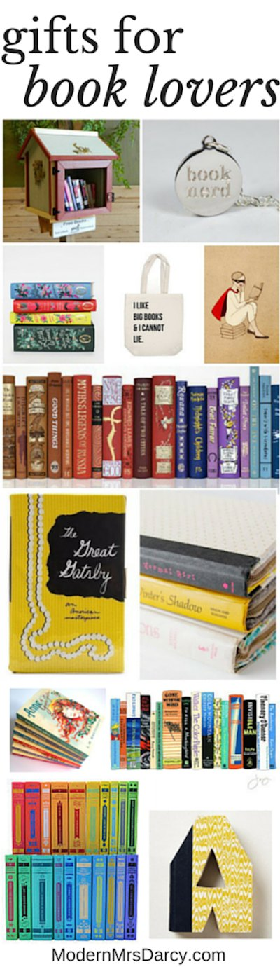 Gifts for book lovers   Modern Mrs Darcy