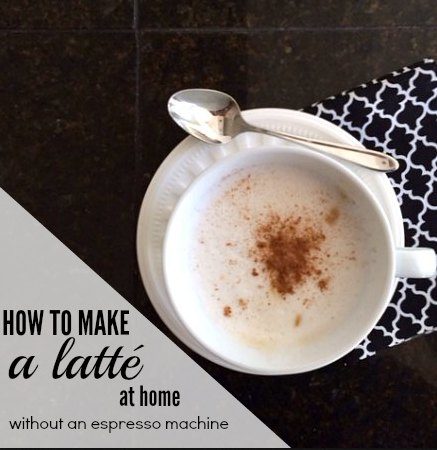 How to make a latte at home without an espresso machine | Modern Mrs Darcy