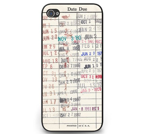 stocking stuffers for book nerds - library card iphone case