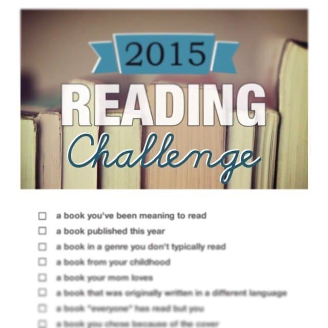 The 2015 Reading Challenge.
