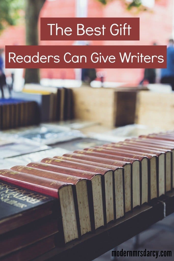 The biggest gift readers can give writers.