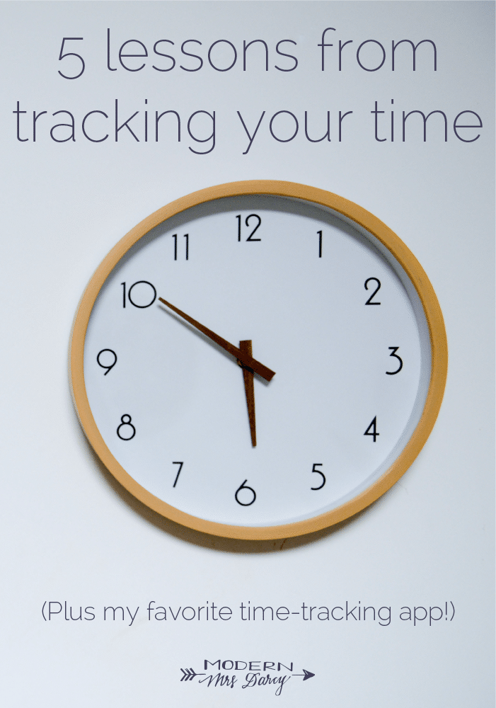 5 lessons from tracking your time