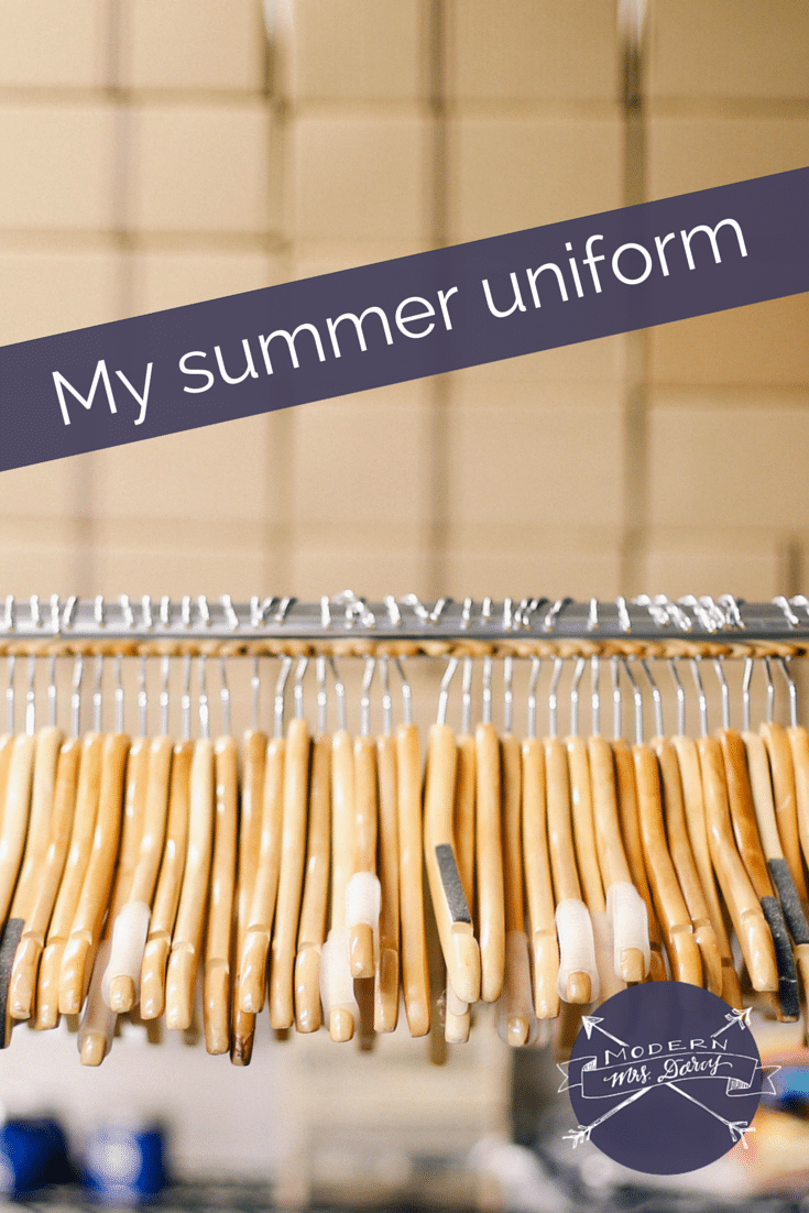 My summer uniform | Modern Mrs. Darcy