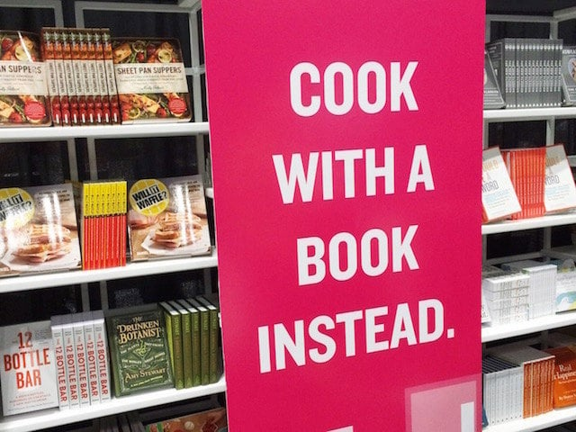 cook with a book instead