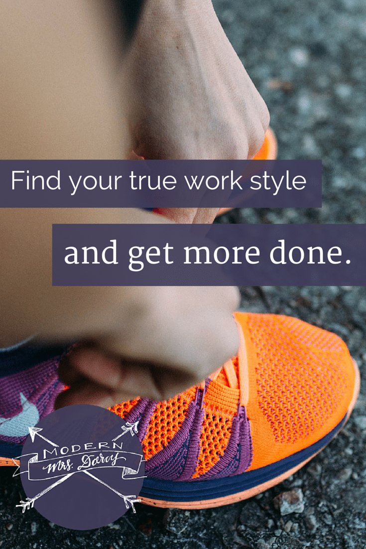When progress is slow but not steady, finding your true work style will help you get more done.