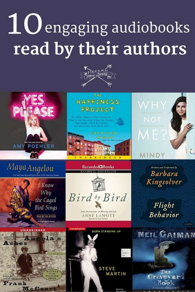 Need a new audiobook recommendation? Try one of these 10 engaging titles, read by their authors.