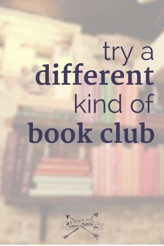 In a book club rut? Try this twist on book clubs.