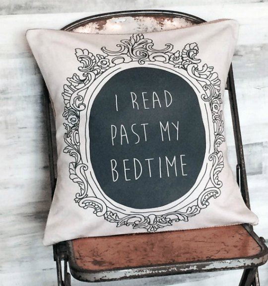 I Read Past My Bedtime pillow cover