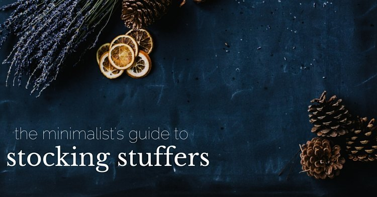 the minimalist's guide to stocking stuffers