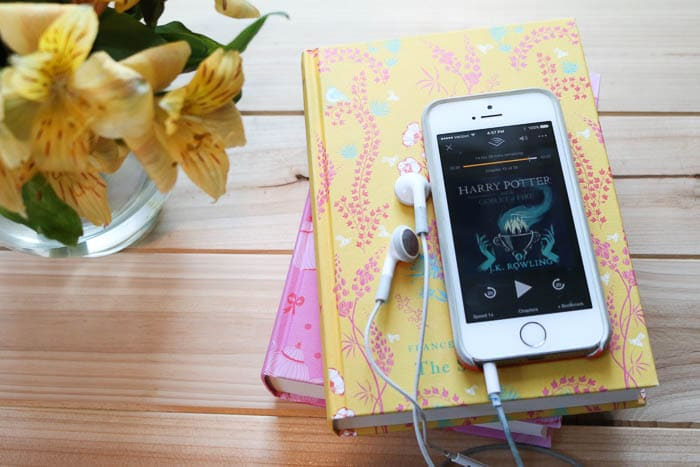 audiobooks and flowers