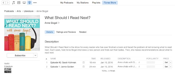 subscribe to a podcast in itunes